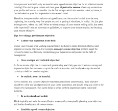 Resume Impact Statement Examples Resume Objective For Retail Job Career Summary Sample Objectives 24