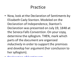 declaration of sentiments essay the declaration of sentiments was a document written at the seneca inside higher ed declaration of