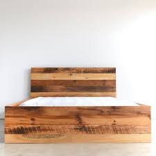 Modern Reclaimed Wood Bed - WHAT WE MAKE