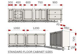 standard floor cabinet sizes