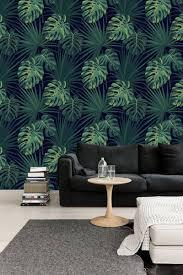 Zelfklevend Behang Tropisch Blad Groen Zwart 122zx244 Cm Tapetshow