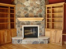 Decorating Amazing Modern Stone Fireplace Design Excerpt Rock ...