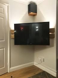 9 corner tv mount ideas tv wall