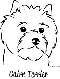 cairn  terrier drawings - Google Search | Cairn terrier, Dog outline, Terrier