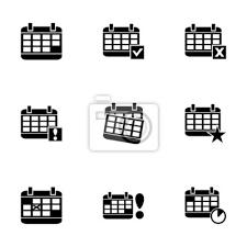 Vector Black Calendar Icon Set Fototapete Fototapeten Bindemittel