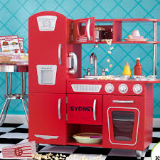 Kid Craft Retro Kitchen Kidkraft Personalized Red Vintage Kitchen Reviews Wayfair