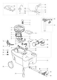 Caravansplus spare parts diagram thetford c250 c260 cassette throughout toilet wiring