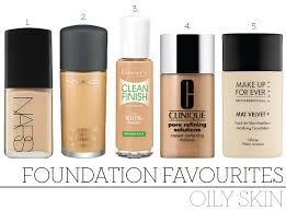 top 5 foundations for oily skin