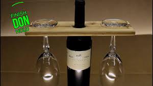 easy diy wooden wine bottle glass holder new