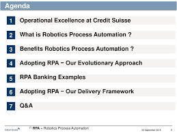 Operational Excellence Example Applying Robotics Process Automation To Drive Operational