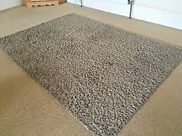 ikea hampen rug high pile grey beige colour immaculate condition