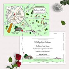 Illustrated Map Party Or Wedding Invitation By Cute Maps