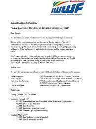 seminar invitation e a iwwf seminar invitation skirace net