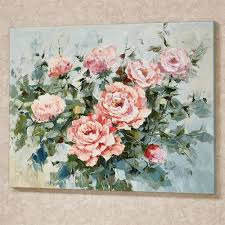 roses in bloom canvas wall art pink on pink rose canvas wall art with pink roses in bloom floral canvas wall art