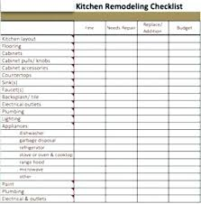 Kitchen Renovation List Home Remodel Checklist Bathroom Template Lovely House