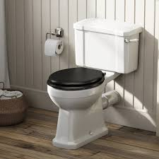 black soft toilet seat. camberley close coupled toilet with wooden soft seat black pan connector