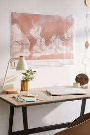<b>Rose Gold</b> Scratch-<b>Off</b> World Map | Urban Outfitters