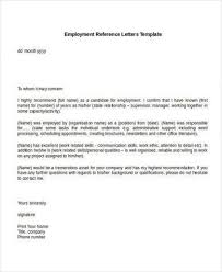 Personal Letter Of Recommendation For Employment Letter Of Personal Recommendation Template Magdalene