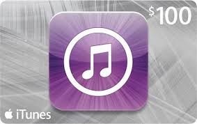 apple itunes gift card 100 in