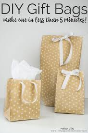 it s easy to make your own diy gift bags in under 5 minutes using wrapping paper