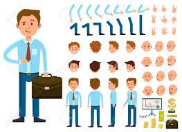 ビジネスマンのキャラクター作成は分離ベクトル図を設定します様々