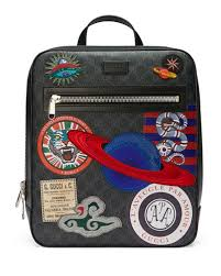 gucci bags backpack. gg supreme backpack with travel patches gucci bags