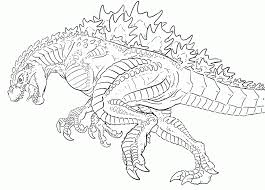 It is a giant lizard of prehistoric time. Printable Godzilla Coloring Pages Coloring Home