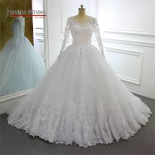 Ball Sleeves Design Us 488 0 2019 New Robe De Mariee Long Sleeves Lace Wedding Dress Ball Gown New Model Design Brand In Wedding Dresses From Weddings Events On