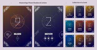 Solar System Planets And Astrological Numbers With Letters Chart