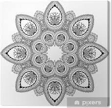 Obraz Vector Henna Tetování Mandala Mehndi Styl Na Plátně