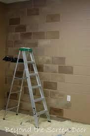 cinder block walls