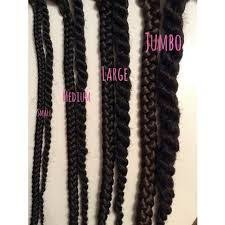Image Result For Box Braids Size Chart In 2019 Box Braids