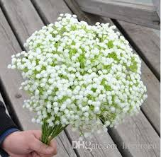 best whole new baby s breath gypsophila paniculata plastic artificial flowers for wedding decors bouquets home decorations under 18 37 dhgate