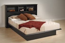 Full Platform Bed With Bookcase Headboard Double Bed With Storage Headboards Double Bed