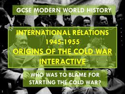 gcse history origins of the cold war