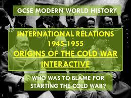 gcse history origins of the cold war