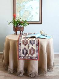 table runner for round tables table burlap table runner for round tables