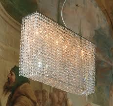 modern rectangular clear swarovski crystal chandelier