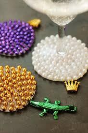 diy ideas made with mardi gras beads