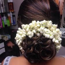Flower Hair Style bunwithcurlsjpg 10801080 gajra pinterest hair style 4747 by wearticles.com