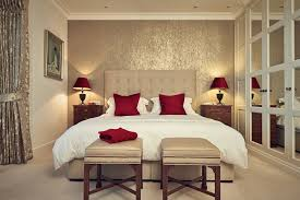 bedroom calm traditional master bedroom decorating ideas with cream headboard also red cone table lamp