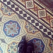 mosaic tiled floor idea