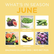 Cuesa Fruit Seasonality Chart Whats In Season In June Bauman College