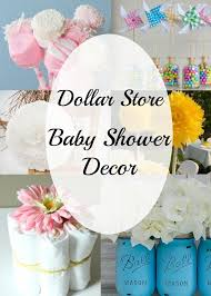 Inexpensive baby shower centerpiece and decor ideas. All items can be  bought at the dollar