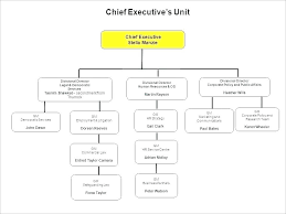 Free Editable Organizational Chart Template Blank Flow For