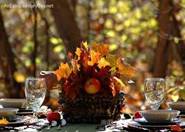 Think outdoors as well as indoors when planning for your next fall or  Thanksgiving table setting