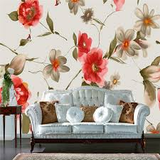 Small Picture Aliexpresscom Buy Vintage Style Flowers Wallpaper Silk Wall