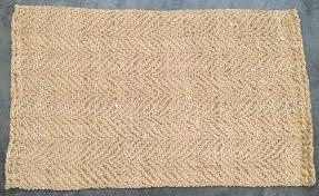 details about pottery barn preston herringbone natural fiber 3x5 rug authentic