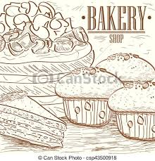 Vintage Bakery Graphic Design Vector Illustration