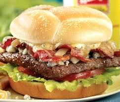 this great bacon and real blue cheese crumbles takes the hamburger to a whole new level offers gourmet taste for value wendys jr cheeseburger deluxe